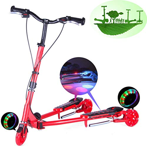 Best Price Scooters Self Balancing Children's Frog Folding Double Pedal Bike Three-Wheel Flash Sciss...