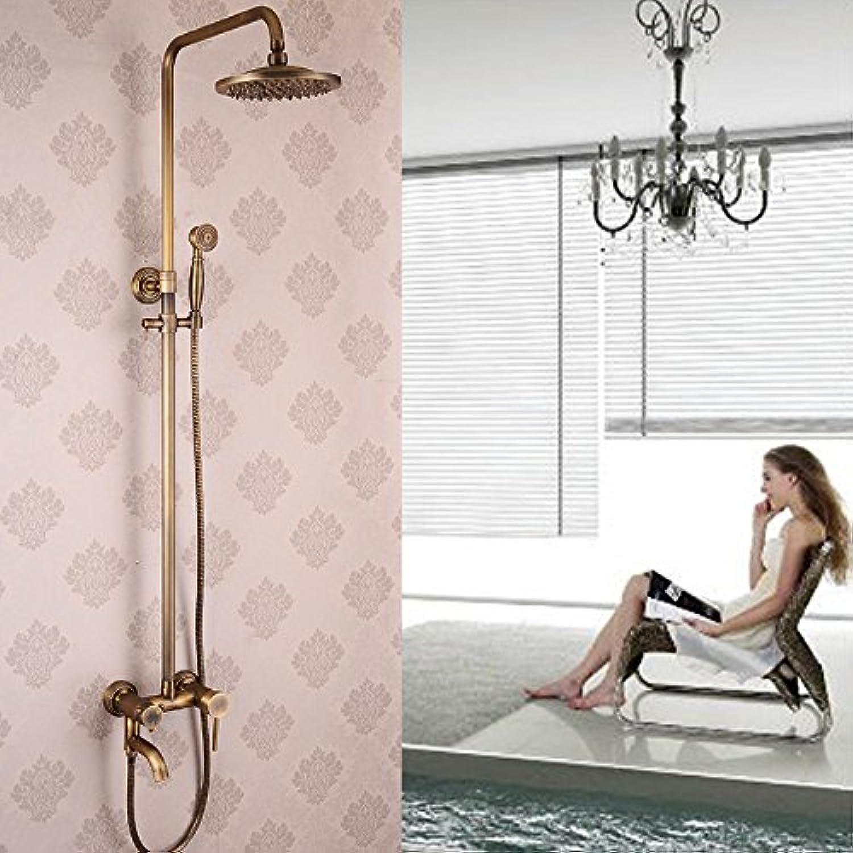Bijjaladeva Antike Badezimmer Regen Mixer Dusche Regendusche Hahn System TippenAlle Kupfer Antik Dusche Kit und kaltem Wasser Mischbatterie Dusche