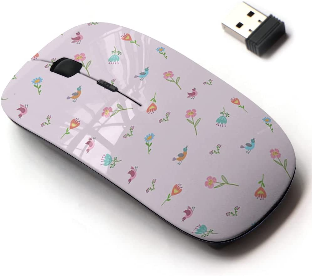 2.4G Wireless Mouse High material with Cute 5% OFF Pattern for All Laptops and Design