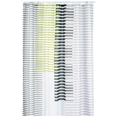 kela Duschvorhang Lamita 180x200cm aus Polyester in grün, 200 x 180 x 0.8 cm