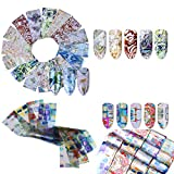Feuille d'art d'ongle Labyrinthe à gradient irrégulier Stickers Ongles Autocollants Shell Sky Leopard Stickers Nail Art Ongles 32PCS