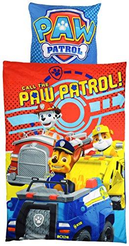 Paw Patrol 0121990Microfibra Ropa de Cama, poliéster, Azul, 37,5x 27x 4cm, 135x 200