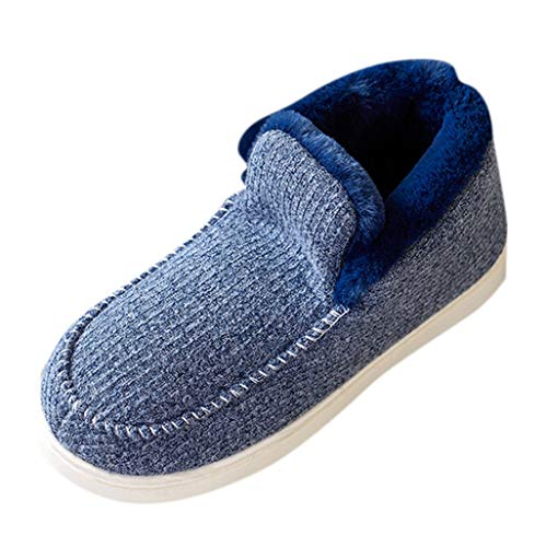 Best Review Of Eimvano Women's Comfy Memory Foam Moccasin Slippers Breathable Cotton Knit Terry Clot...