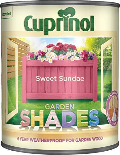 Cuprinol Garden Shades 1 l - Fassadenfarben (Farbe, Fertig gemischt, Bau, Zaun, Möbel, Schuppen, Matte Oberfläche, 1 l, Sweet Sundae)
