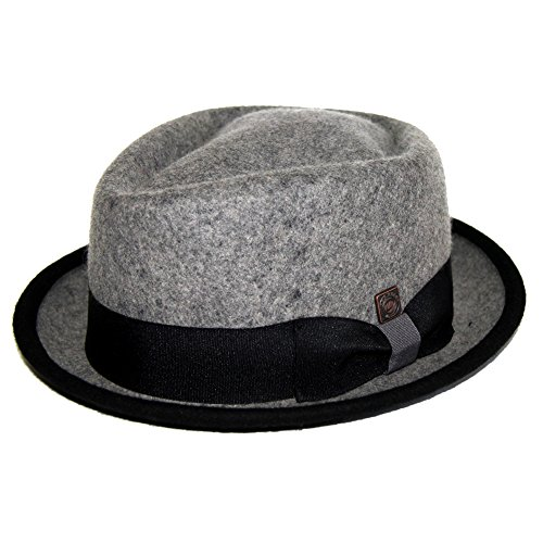 DASMARCA Jacson Couverture Melange Feutre Crown Diamond Porkpie Hat - XL