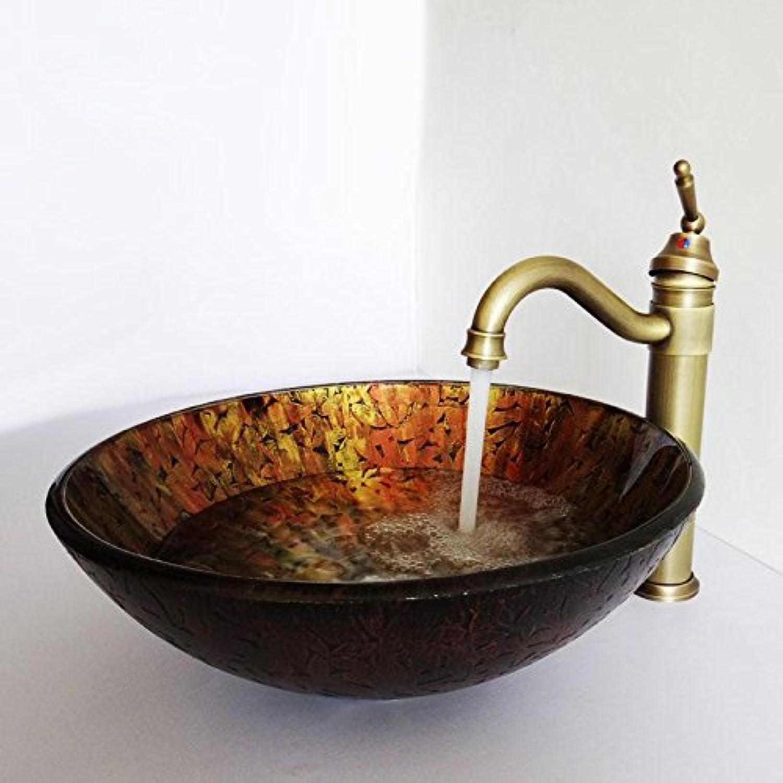 Y & M Das Circular Spüle Material ist ein gehrtetes Glas Badezimmer Spüle