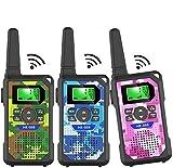 Kids Walkie Talkie,3 KM Long Range with 22 Channels, LED Flashlight, walkie Talkie for Boys & Girls...