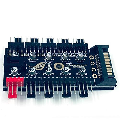Cables SATA PC 1 A 10 Ventiladores de refrigeración de 4 Pin, Cable de Divisor 1 2V PWM LED Controlador de Velocidad de Adaptador SATA Power Suppply para la minería de la computadora
