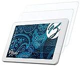 Bruni Schutzfolie kompatibel mit Odys Ieos Quad Pro Folie, glasklare Bildschirmschutzfolie (2X)