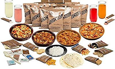 MRE Meal Ready to Eat Variety of 12 Entrees with Snacks, Drink Mixes