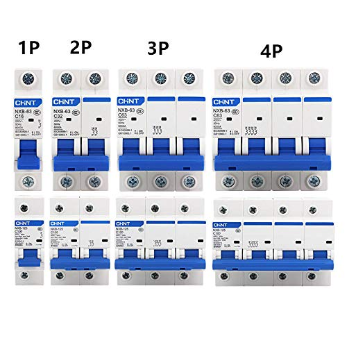CHNT NXB-63 Kleinschalter DZ47 Luftschalter 1P 2P 3P 4P 1A ~ 125A C Typ Haushaltssicherheitsschalter-2P_125A