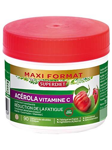SuperDiet Acérola 500 Vitamine C naturelle 90 comprimés