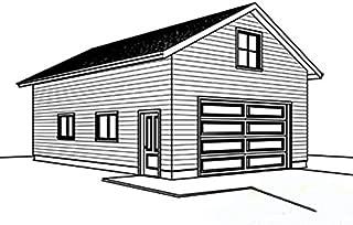 Cad Northwest Residential Garage Blueprint - Style T - 24' x 32' Garage Plan