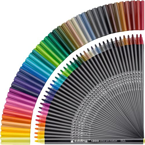 edding 1300-40S - Estuche de metal con 40 rotuladores, multicolor