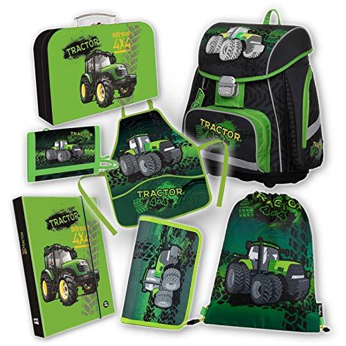 Traktor Schulranzen-Set 7tlg OXY BAG Premium