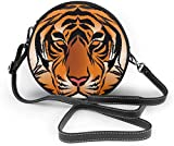Bolso redondo mujer Women's Summer Round Bag Striped Bengal Tiger King Fashion Crossbody Shoulder Handbag Sling Purse Sling Bag