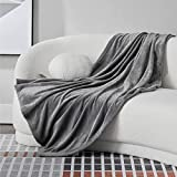 Bedsure Fleece Throw Blanket for Couch Grey - Lightweight Plush Fuzzy Cozy Soft Blankets and Throws for Sofa, 50x60 inches