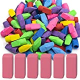Sooez Pencil Erasers, 90 Pack Pencil Top Erasers & 6 Pack Pink Erasers, Cap Erasers Eraser...