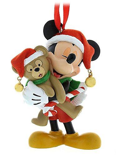 Disney Parks Santa Mickey Mouse with Duffy Bear figurine Ornament New
