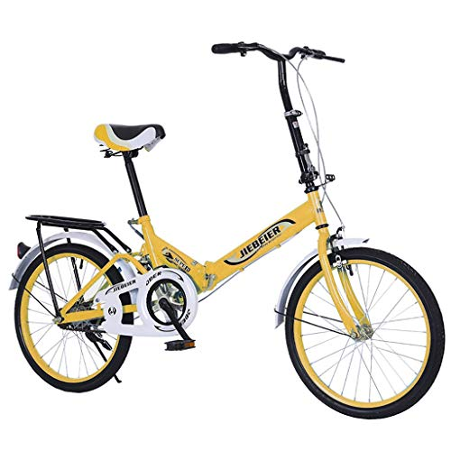 Folding 20in Adult Students Ultra-Light Portable Women's City Mountain Cycling,20' High Tensile Steel Folding Frame, Unique Folding Pedal Design, Alloy Wheels with High Grade 20' x 1.75 Road Tires