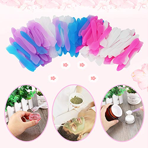 150 Pack MINI Makeup Spatulas, Reusable Facial Cream Mask Tip Spatulas Frosted Cosmetic Spatulas Mask Scoops by Accmor