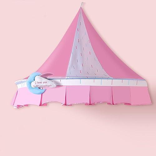 Tentes de Coin pour Les Enfants Coin intérieur Coton chateau accroché Mur Rose Bleu Style Nordique pour bébé Enfants Lecture Jeu Tente tentes (Une Seule Tente)