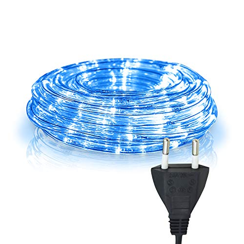 Hengda 10m LED Lichtschlauch Lichterschlauch Blau, Wasserdicht Lichtschläuche mit 240 LEDs, Lichterkette für Weihnachten Party, Außen Garten, Innen Dekoration