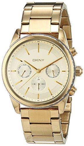 DKNY Damen Chronograph Quarz Uhr mit Edelstahl beschichtet Armband NY2330