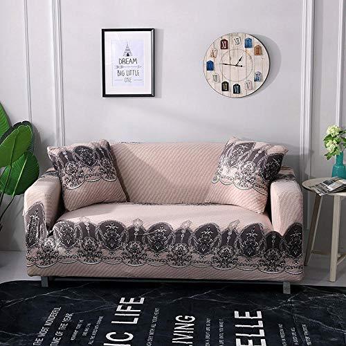 Allenger Funda Elástica de Sofá,Funda elástica para sofá, Funda Antideslizante para sofá Todo Incluido, Protector de sofá para Sala de Estar y cafetería-A6_235-300cm