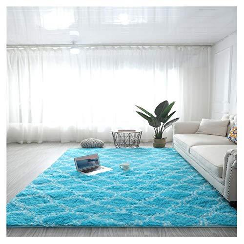 WWYL Alfombras de salón supersuaves y esponjosas de piel de oveja artificial, mantas de yoga antideslizantes y alfombras esponjosas, decoración de habitación de los niños (A - 14.120 x 200 cm)