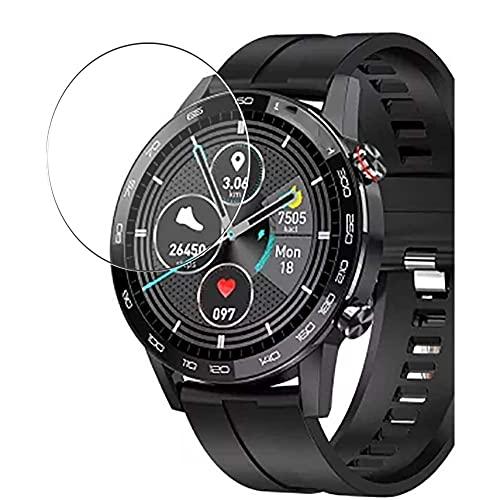 Vaxson 3 Stück 9H Panzerglasfolie, kompatibel mit Microwear L16 Smartwatch smart watch, Panzerglas Schutzfolie Bildschirmschutzfolie
