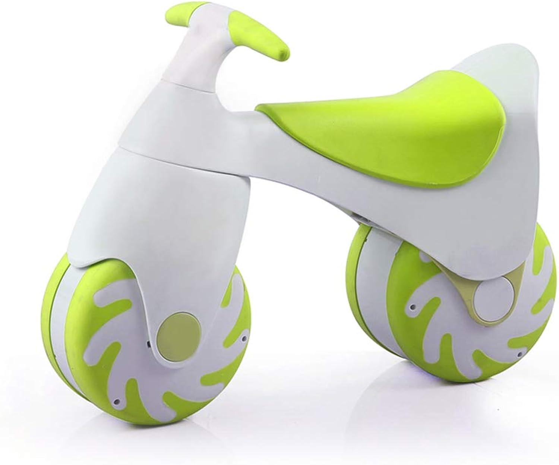 grandes precios de descuento Scooter Scooter Scooter ZHAOSHUNLI v Coche Paralelo para Niños Coche Paralelo de 1-3 años Ligero de Dos Ruedas Coche Que Camina de múltiples Funciones (Color   verde)  vendiendo bien en todo el mundo