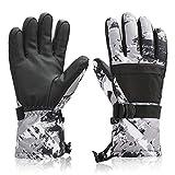 BOSONER Ski Snowboard Gloves, Waterproof Winter Warm Gloves, Cold Weather Touchscreen Snow Gloves for Mens, Womens, Kids Skiing,Snowboarding