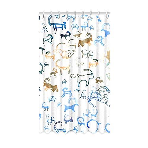 N\A Cortinas Opacas del Hotel Habitación Popular para niños de Dibujos Animados de Cabra Cortinas Opacas de 50 X 84 Pulgadas de una Pieza para Puertas corredizas de Vidrio para Patio/Dormitorio