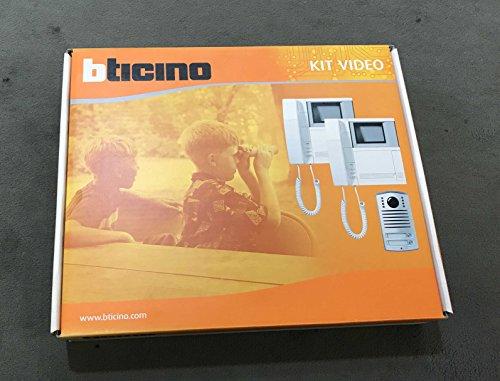 Bticino - Kit de videoportero bifamiliar Pivot 362821 - Línea 2000 - BTICINO LEGRAND 362821