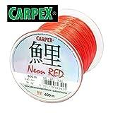 600m 'ROBINSON' rote monofile Angelschnur Karpfenschnur Method- Feederschnur (Ø 0,40mm / 28,0kg)