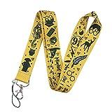 Harry Potter Hogwarts - Cordón para el cuello,Neck Lanyard para llaves, tarjetas de identificación, llavero, USB,Teléfono Móvil (amarillo)