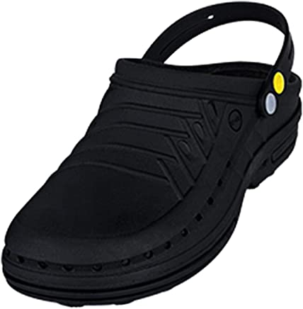 Wock Black Flat Sandal For Unisex