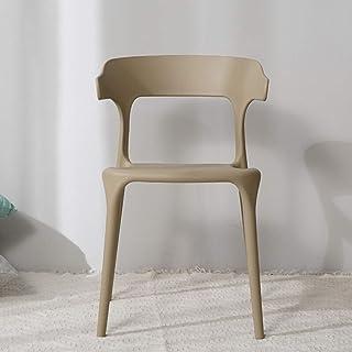 Tellgoy-Chair Sillas Creativa Comedor Sala de Estar, diseño Moderno sillas de Cocina PP Material, sillas taburetes para Comedor salón Cocina Dormitorio Office Lounge Restaurante,C,X2