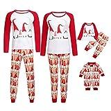 Moneycom - Pijama para Padres y niños para bebé, Color Rojo Papa M