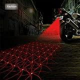 Anti Collision Rear-end Car Laser Tail Fog Light Auto Brake Parking Lamp Rearing Warning Light Motorcycle[Fashion]