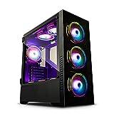 GOLDEN FIELD Z21 PCケースゲーミングコンピュータケースEATX/ATX/MATX/ITXケース強化ガラス入りミッドタワーケース開閉式サイドパネル