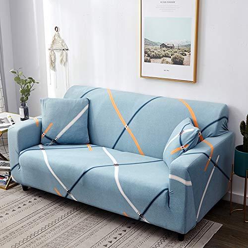 WXQY Funda de sofá con diseño de Hoja nórdica, Funda de sofá elástica para Sala de Estar, Funda de sofá Universal para Mascotas, Funda de sofá Individual para el hogar A14 1 Plaza