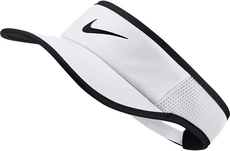 Nike Aerobill Featherlumière Visor blanc noir noir Baseball Caps
