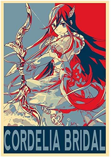 YEAHTOPE Posters: Fire Emblem Propaganda Cordelia (Mariée) - A3 (42 x 30 cm)