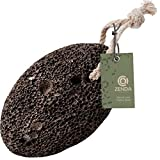 Zenda Naturals Pumice Stone for Feet - Exfoliating Foot Scrubber for Shower - Dead Skin Remover & Pedicure Tool for Callus Removal - Exfoliator Made with Natural Volcanic Lava