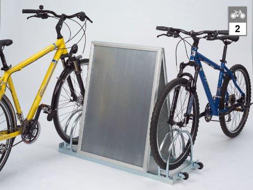 Werbe-Fahrradständer AW 5112 N - 2 Einstellplätze