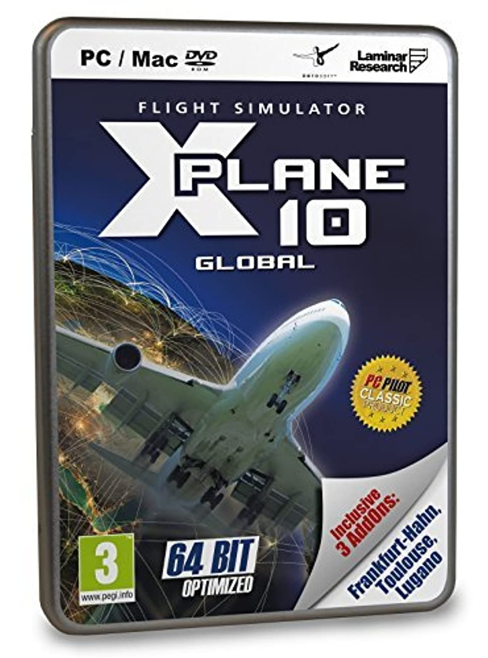 約ぶら下がる沈黙X-Plane 10 Global 64-Bit Best Of with Frankfurt-Hahn, Toulouse and Lugano DLC (Mac/PC DVD) by Aerosoft [並行輸入品]
