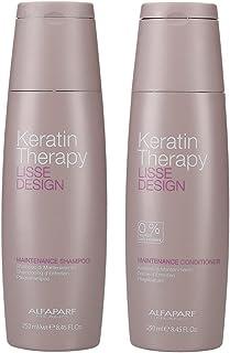 Alfaparf Lisse Design Keratin Shampoo & Conditioner 2x 250ml by AlfaParf