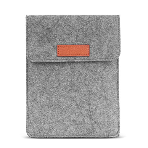 MoKo 6 Inch Kindle Sleeve Hülle Kompatibel mit All-New Kindle 10. Generation 2019/Kindle Paperwhite 2018, Filz Schutzhülle Tasche für Kindle Voyage/Kindle (8. Gen)/Kindle Oasis 6